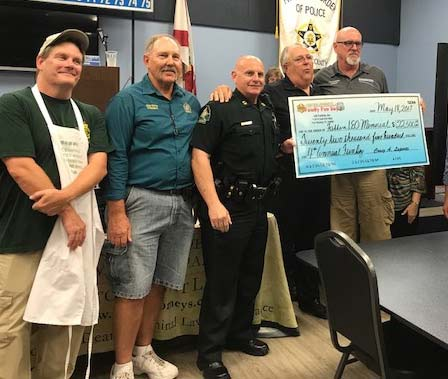 We raised over $22,500.00 above the costs of the event, which was donated to the Pasco County Fallen Law Enforcement Officer Memorial and Benefit Foundation, Inc.