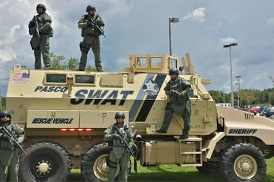 Pasco Sheriff's Office SWAT Vehicle Display